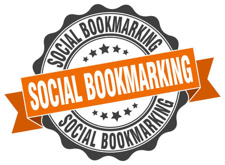 bookmarking: social bookmarking stamp. sign. seal