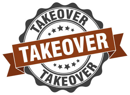 takeover: takeover stamp. sign. seal Illustration