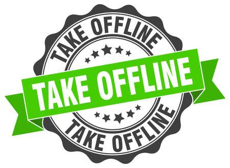 take offline stamp. sign. seal