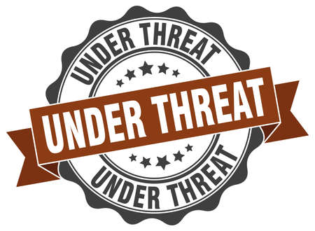 threat: under threat stamp. sign. seal