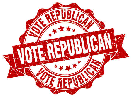 republican: vote republican stamp. sign. seal