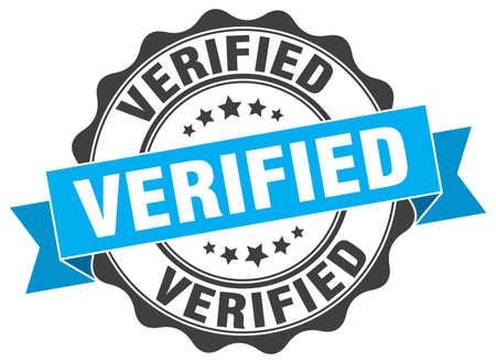 verified: verified stamp. sign. seal