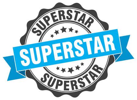 superstar: superstar stamp. sign. seal