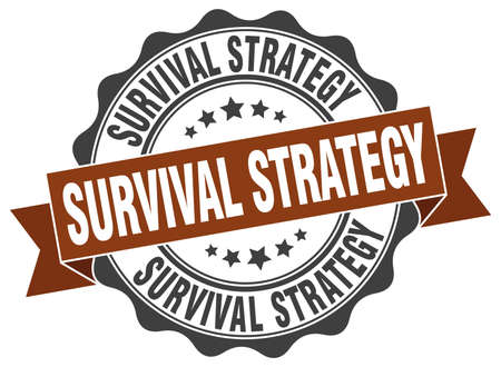survival: survival strategy stamp. sign. seal