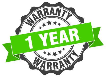 1 year warranty: 1 year warranty stamp. sign. seal