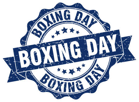 boxing day: boxing day stamp. sign. seal
