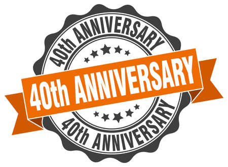 40th anniversary stamp. sign. seal