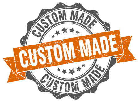 custom made stamp. sign. seal 向量圖像
