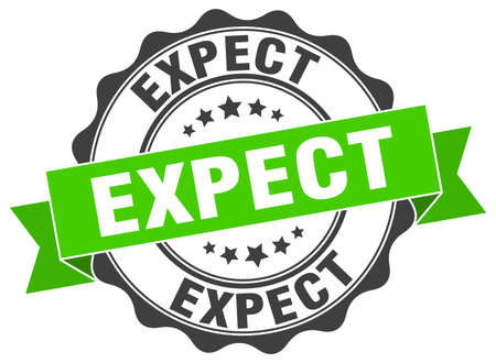 expect: expect stamp. sign. seal Illustration