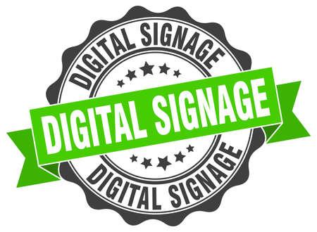 signage: digital signage stamp. sign. seal