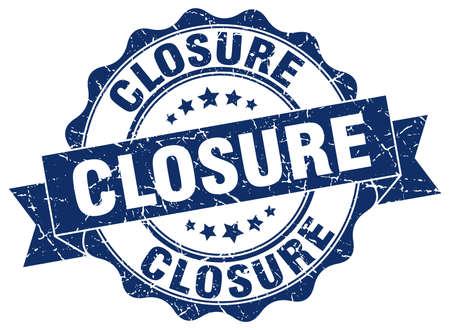 closure stamp. sign. seal