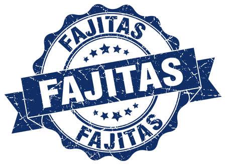 rubber band: fajitas stamp. sign. seal Illustration