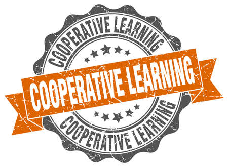 cooperative learning stamp. sign. seal