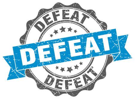 defeat stamp. sign. seal Illustration