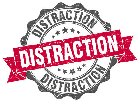 distraction: distraction stamp. sign. seal Illustration