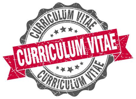 curriculum: curriculum vitae stamp. sign. seal