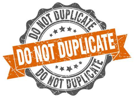 do not duplicate stamp. sign. seal Illustration
