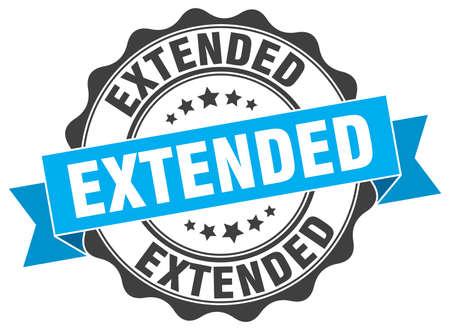 extended: extended stamp. sign. seal Illustration