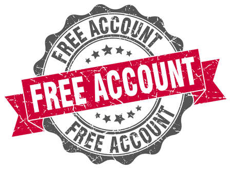 account: free account stamp. sign. seal