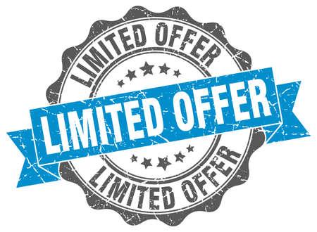 limited: limited offer stamp. sign. seal