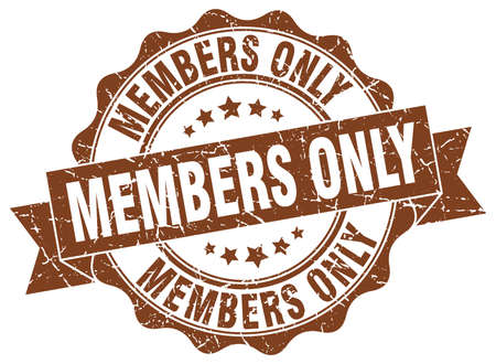 members only: members only stamp. sign. seal