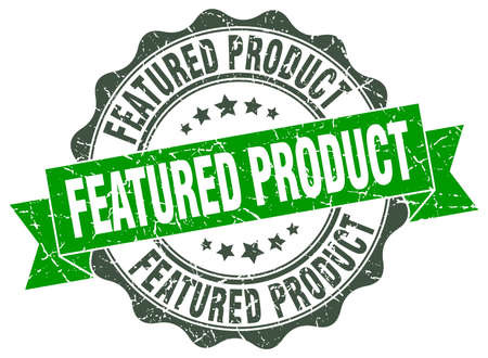 featured: featured product stamp. sign. seal