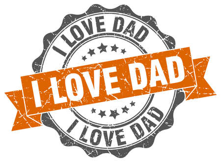 i love dad stamp. sign. seal