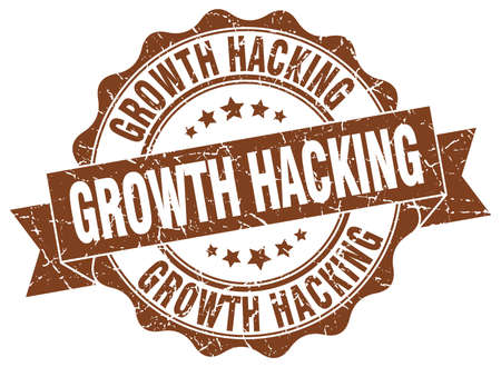 hacking: growth hacking stamp. sign. seal Illustration