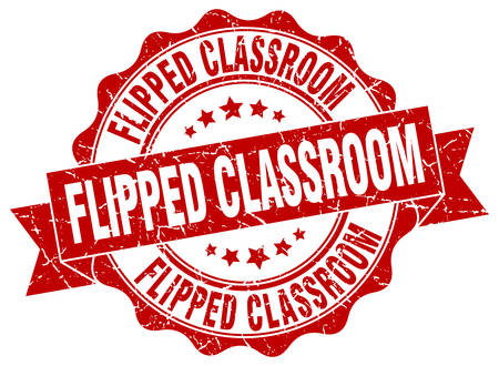 flipped: flipped classroom stamp. sign. seal Illustration