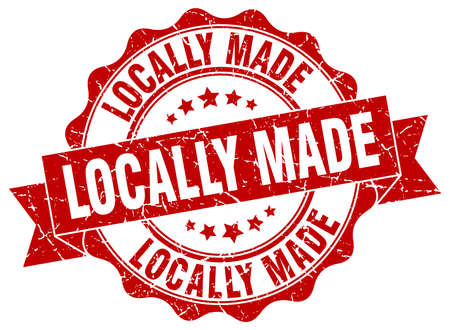 locally: locally made stamp. sign. seal