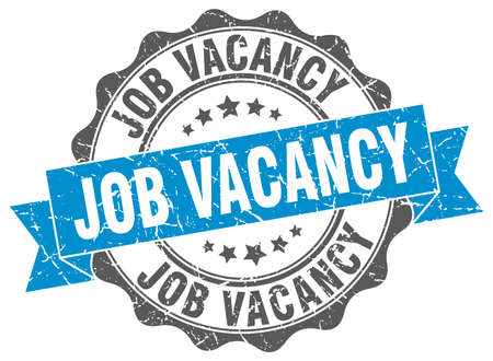 vacancy: job vacancy stamp. sign. seal Illustration