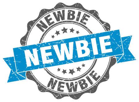 newbie: newbie stamp. sign. seal