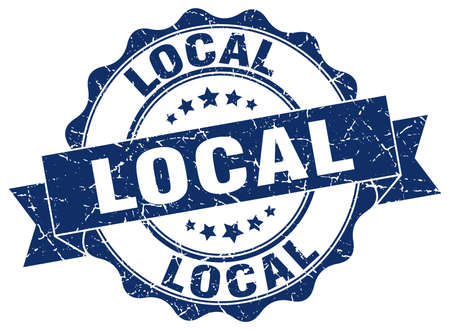 local: local stamp. sign. seal Illustration
