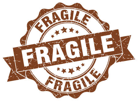fragile stamp. sign. seal