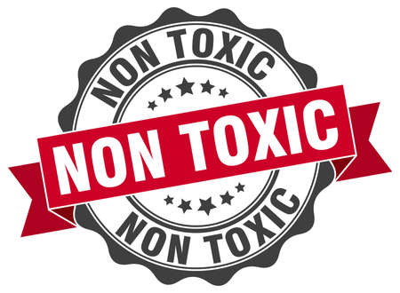 toxic: non toxic stamp. sign. seal