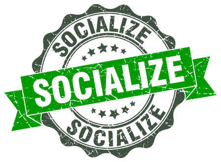 socialize: socialize stamp. sign. seal
