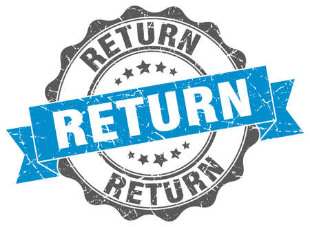 retour: return stamp. sign. seal Stock Illustratie