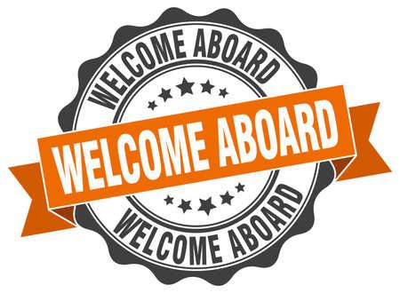 welcome aboard stamp. sign. seal Illustration