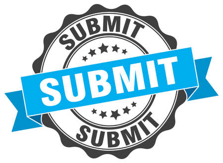 submit: submit stamp. sign. seal Illustration