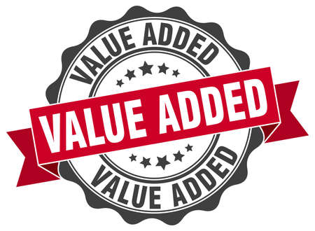 value add: value added stamp. sign. seal Illustration