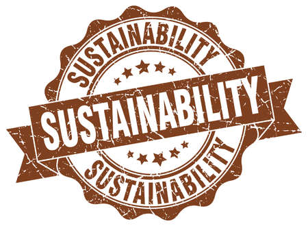 sustainability stamp. sign. seal Illustration