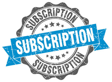 subscription: subscription stamp. sign. seal Illustration