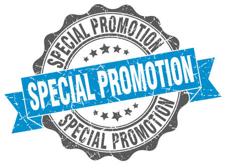 special promotion stamp. sign. seal