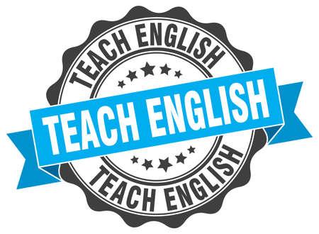 teach: teach english stamp. sign. seal
