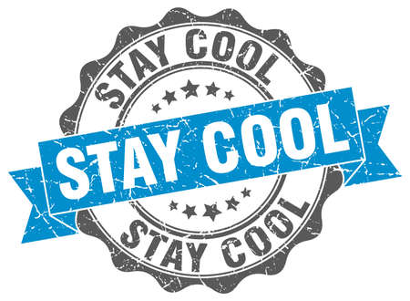 stay: stay cool stamp. sign. seal