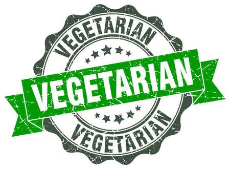 Vegetarier Stempel. Schild. Dichtung