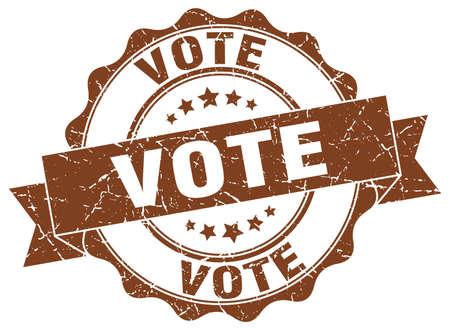 vote stamp. sign. seal