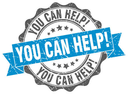 tu puedes: you can help stamp. sign. seal Vectores