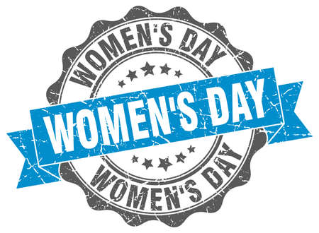 women's day: womens day stamp. sign. seal