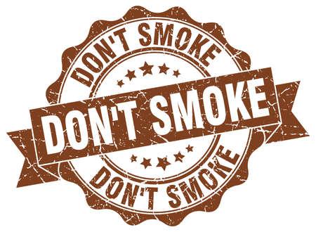 niet roken stempel. teken. zeehond